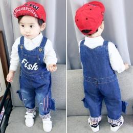 Boys baby spodnie kombinezony dla niemowląt 1-3 lat dziecko dziewczyny odzież chłopcy wiosna/jesień jeans dzieci zwierząt kombin