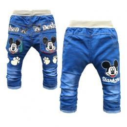 Wyprzedaż Dziecko Denim Spodnie Fashon Elastyczny Pas Baby Boy Jeans Cartoon Odzież Dla Niemowląt Cute Dziewczynka Top Trendów D