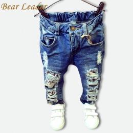 Miś Lider Dzieci Uszkodzony Otwór Spodnie Spodnie 2018 Boys Baby Dziewczyny Jeans Marka Moda Jesień 2-7Y Dzieci Spodnie Ubrania