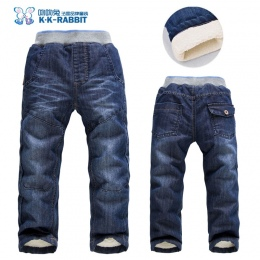 Wysokiej jakości grube zimowe ciepłe kaszmiru Chłopców dla dzieci spodnie dla dzieci spodnie dla dzieci dzieci dżinsy