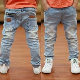 2018 Wiosna najnowszy fashion style biały chłopcy dżinsy miękki materiał nadające się do wieku od 3 do 12 lat dzieci spodnie B13