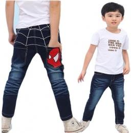 Dzieci Dżinsy Chłopcy Bawełna Dorywczo Dzieci Odzież Długo Długość Niebieski Denim Spodnie Ubrania Dla Dzieci Wiosna Duży Chłopc