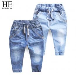 ON Hello Cieszyć Dziewczyny jeans spodnie wiosna Jesień 2018 ubrania dla dzieci dżinsy niebieskie jeansowe spodnie na co dzień s