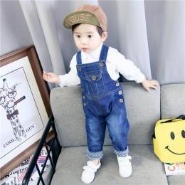 Dzieci Denim Kombinezony Dziecko Dżinsy Spodnie Baby Girl Chłopcy Spodnie Dziecięce Odzież Maluch Spodnie Ogrodniczki dla Małych