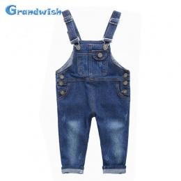 Grandwish New Kids Denim Kombinezon Kombinezony Spodnie Jeansowe Dla Dzieci Chłopców i Dziewcząt Dorywczo Dżinsy Spodnie 18 M-10
