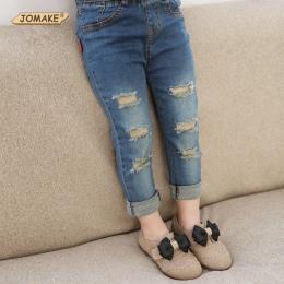 Detal 2018 Dzieci Chłopcy Dziewczęta Spodnie Jeansowe Jesień Projektant Mody Spodnie Chłopiec Dziewczyna Denim Spodnie Casual Be