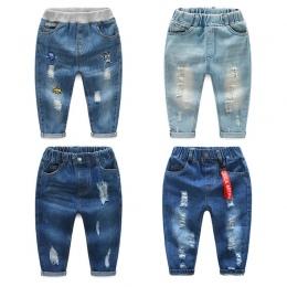 2018 Moda Marka Chłopcy baby boy ciepłe Jeans infantil dla Wiosna Jesień dzieci Spodnie Jeansowe Dzieci Dark Blue Zaprojektowane