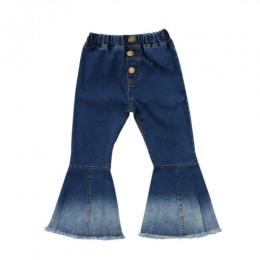Atrakcje Dla Dziewczynek Miękkie Bell Bottom Jeansowe Spodnie Startowy Cut Jeans Hit Kolor Szerokie Nogawki Spodni
