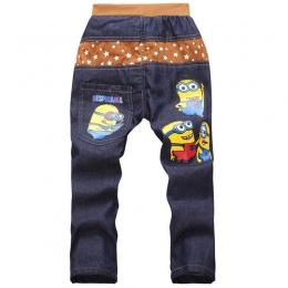 UNIKIDS Dzieci Moda Minion Odzież Chłopcy Spodnie Jeansowe Dla Dzieci spodnie Wąskie Dżinsy Spodnie Na Co Dzień