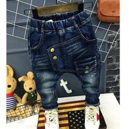 Spodnie Jeans chłopcy List 2018 Moda Chłopców Dżinsy na Wiosnę Jesień dzieci Haren Spodnie Jeansowe Dzieci Dark Blue Zaprojektow