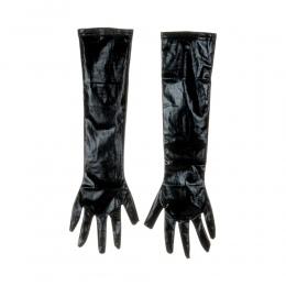1 para Dorosłych Sexy Długie Rękawice Lateksowe Czarne Panie Hip-pop Fetysz Faux Skórzane Rękawiczki Klubowa Catsuit Kostiumy Co
