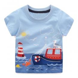 Chłopcy Bluzki Lato 2018 Marki t-shirty Chłopców Ubrania Dla Dzieci dzieci Koszulkę Fille 100% Bawełna Druku Znaków Baby Boy odz