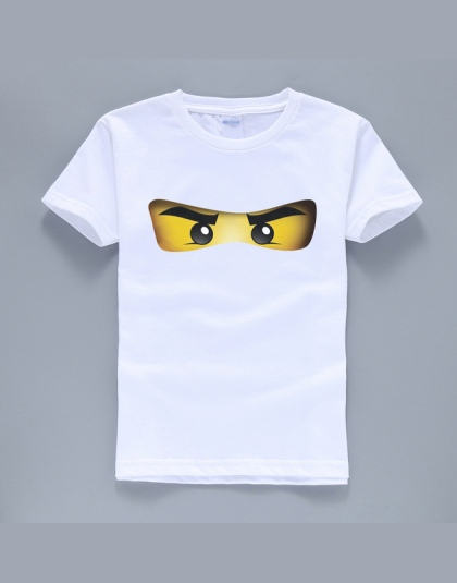 2018 hot sprzedaż ninjago cartoon wzór 100% bawełna O-neck krótki rękaw koszulki boys baby odzież wysokiej jakości letnie koszul