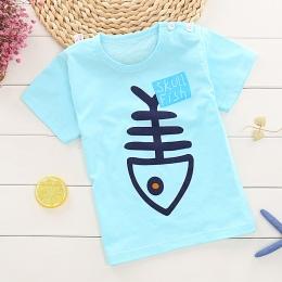 Dzieci z krótkim rękawem T-shirt dla Chłopca/Dziewczyny 2-9 lat Nastolatków dziecinne bawełna Postaci Fishbone Zebra osioł dziec