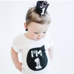 Letnie Ubrania Dla Dzieci T-shirt Topy Odzież dziecięca Dziewczyna Chłopców 1 2 3 4 Rok Urodziny Strój Maluch Niemowlę Party Kos