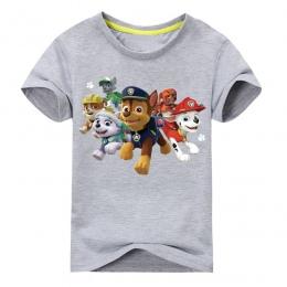 2018 Nowy Cartoon Dog Drukarnie Koszulki Dla Boy Dziewczyny Krótkim Rękawem 100% Bawełna T Koszula Dzieci Lato Tee Topy Odzież G