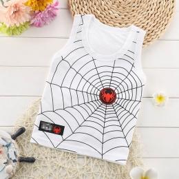 Dziecko bawełna Kamizelka bez Rękawów dla chłopca/dziewczyny cartoon ryb/spider drukowane topy bez rękawów T-shirt dla 1-6 lat n