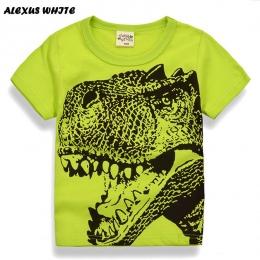 Dinozaura kreskówki T Shirt Chłopcy 2018 Letnie Ubrania Dla Dzieci Malucha 100% bawełna Topy tee baby Boy Dzieci bobo bebe T-shi