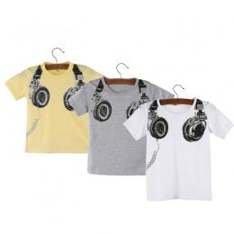 2018 Gorąca Sprzedaż t shirt Boy odzież Dla Dzieci lato dzieci Słuchawek Z Krótkim Rękawem Topy Bluzki T Koszula Trójniki Ubrani