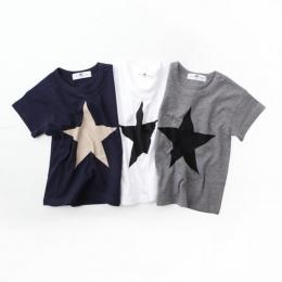 Lato Dorywczo dzieci Wygodne Ubrania Rozpocząć Druku Koszulki Bawełniane Dla Dzieci Chłopcy Dziewczyny T Shirt
