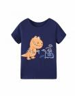 2018 Lato Dziewcząt i Chłopców Z Krótkim Rękawem T-shirty Cartoon Print T-shirt W Paski Tee Shirt Bawełniane Dziewczyny Topy Dla