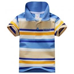Lato Piękne Dziecko Chłopcy Skrótu Rękawa T Koszula Dzieci Bluzki W Paski Polo Shirt Tops