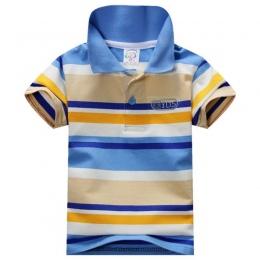 Moda Lato Boys Baby Skrótu Rękawa T Koszula Dzieci Bluzki W Paski Polo Shirt Tops