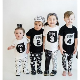1 2 3 4 5 lat Urodziny Boże Narodzenie chłopiec t koszula bawełniana koszulka odzież dziecięca dziecko tee ubrania kostium dla d