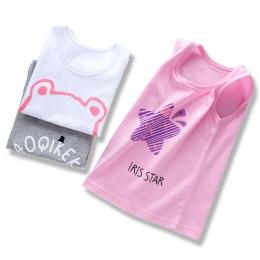 2018 Letnie Dzieci T Shirt Dla Chłopców Bluza Kreskówki Dla Dziewcząt O-szyi Topy Bez Rękawów, 100% Bawełna T-shirty dla dzieci