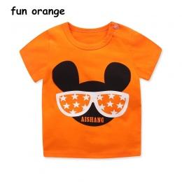 Zabawa Pomarańczowe Lato Baby Boy Dziewczyna Odzież Chłopcy Kreskówki Druku T Koszula Dzieci Bawełniane Topy T-Shirt Dla Dzieci