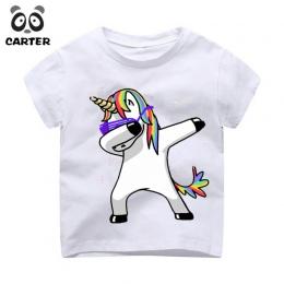 Dzieciaka Pocierając Jednorożec Cartoon Koszulki Chłopcy/Dziewczyny Funny Topy T Koszula Dzieci Cool Królik/Kot/Mops dziecko Dor