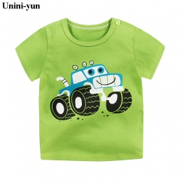 [Unini-yun] Moda Bawełna Kosmicznym Chłopcy Dziewczynki Koszulki Dzieci Dzieci Cartoon Print t shirt Dziecko Dziecko Topy odzież