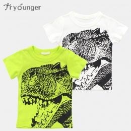 Tryounger T Shirt Chłopcy Wiosna Lato Dinozaura Kreskówki Odzież dziecięca Maluch 100% bawełna Topy Tee baby Boy Dzieci T-shirt