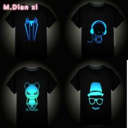 Dzieci Lato Z Krótkim Rękawem Topy Chłopcy Dziewczyny T-shirty Dla Dzieci Odzież Hip Hop Neon Drukuj Party Klub Night Light Punk