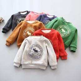 BibiCola Boys Baby Dziewczyny Bluzy Odzież Dla Dzieci Zima Grube Bluzy Maluch Dorywczo Sweter Dzieci Plus velvet Topy Kostium