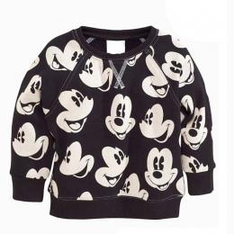 2017 Wiosna Nowy Nabytek Dziewczynek chłopcy dziewczęta terry sweter kreskówki z długim rękawem T-shirt koszulki dla dzieci ubra