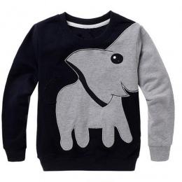 2017 Maluch Dziewczynek Chłopców Ubrania Słoń Sweter Koszula Z Długim Rękawem Bluzka Bluzki D50