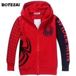 Detal Nowy Styl Ubrania 2017 Wiosna Jesień dzieci Spiderman chłopcy bluza z kapturem kurtki Dla Dzieci cartoon spiderman płaszcz