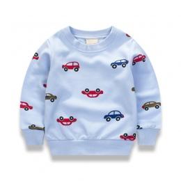 Nowe Samochody druku Swetry Tee Jesień 2017 Jesień Zima Dzieci Bluza Bluzki Z Długim Rękawem T-shirt Chłopcy Dziecka Dziecko Dzi