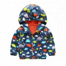 Kid Chłopcy Wodoodporna Wiatroszczelna hooodies Dzieci Dinozaur Deszcz Płaszcz Z Kapturem Odzieży Wierzchniej Dzieci Boy Odzież