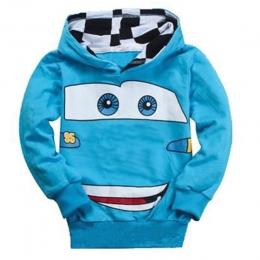 Ubrania dla dzieci Wiosna Długim Rękawem Sweter Elsa Anna Śnieg Biały Samochód Drukowania Kreskówki Dla Dziewcząt Chłopców 6 7 8