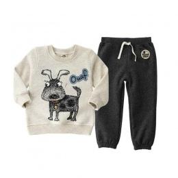 2018 moda niedźwiedź odzież zestawy dla dzieci ubrania, 3-6Y bluzy T-shirt dla chłopców ubrania Apring jesień casual ubrania dla