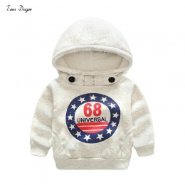 Tem Doger Dzieci Chłopcy Zima Odzieży Mody Płaszcz Dla Dzieci Kurtki Ciepłe Kapturem Dzieci Boy Odzież