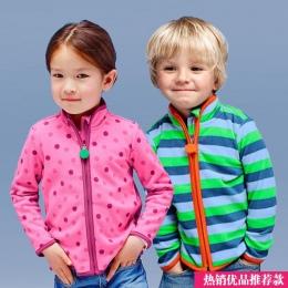 Hot-sprzedaży Wiosną i Jesienią Dzieci Dzieci Chłopiec dziewczyna swetry Boys Baby dziewczyny stripe polary kurtki i płaszcze dl