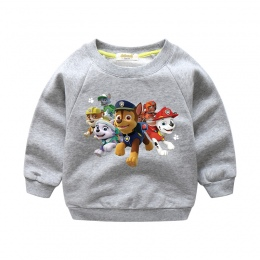 2018 Nowy Cartoon Dog Drukuj Dzieci Wiosna Sweter Dla Boy Dziewczyny Jesień Długim Rękawem 100% Bawełna Topy Sweter Ubrania Dla