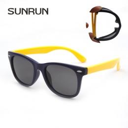 Spolaryzowane Okulary TR90 SUNRUN Dzieci Dziecko Klasyczne Mody Okulary Dla Dzieci okulary chłopiec dziewczyny okulary UV400 Ócu