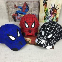 2018 Spiderman Cartoon Dzieci Hafty Bawełna Czapka Z Daszkiem dla dzieci Chłopiec Dziewczyna Hip Hop Kapelusz Spiderman cosplay