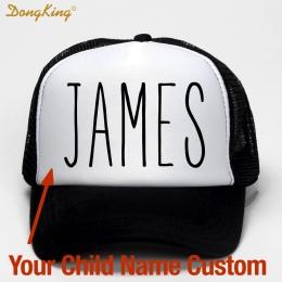 DongKing Dzieci Dziecko Dziecko Nazwa Klienta Trucker Kapelusz Drukowane Nazwa Dziecka Dziecko Syn Córki Klienta Prywatne Cap Me