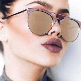 Luksus W Stylu Vintage Okrągłe Okulary Przeciwsłoneczne Damskie Marka Designer 2018 Cat Oczu Okulary Okulary Przeciwsłoneczne Dl