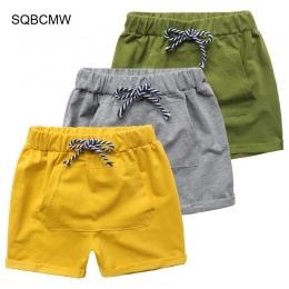 SQBCMW 2018 Gorąca Sprzedaż stałe kolory Dzieci Spodnie Dla Dzieci Spodnie dla dziecka chłopcy lato plaża luźne spodenki size90